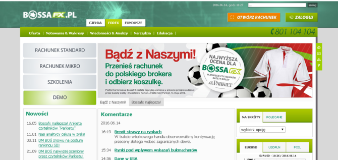 BossaFX - forex broker - forum i opinie